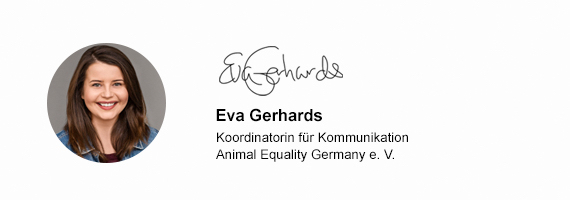 Eva Gerhards – Koordinatorin für Kommunikation – Animal Equality Germany
