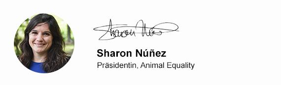 Sharon Núñez – Geschäftsführende Leitung von Animal Equality Germany e. V.